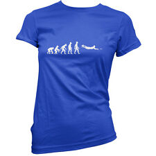 Evolution of Man Frisbee - Womens / Ladies T-Shirt - Frisby - Ultimate - Disc