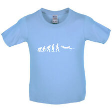 Evolution of Man Frisbee - Kids / Childrens T-Shirt - Frisby - Ultimate - Disc