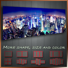 ' Manhattan At Night New York City ' Cityscape Modern Wall Art Deco Canvas
