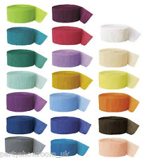 3x 81ft Crepe Paper Streamers Wedding Anniversary Decoration Rolls Listing PS