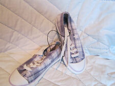 NEW Youth Converse One Star purple plaid white colorful bright size 12 3 junior