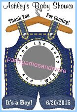 UNIQUE PERSONALIZED BABY SHOWER SCRATCH OFF LOTTO GAME CARDS