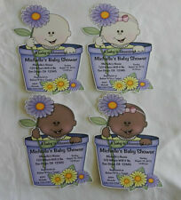 UNIQUE PERSONALIZED A BABY IS BLOOMING BABY SHOWER PARTY FAVOR CUSTOM INVITATION