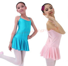 New Girls Ballet Costume Kids Tutu Skirt Fairy Party Leotards Dance Dress