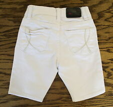 NWT Girls !iT Bike Shorts Crystal White Colored Denim Jeans SIZES 4 6 7 10 12 16