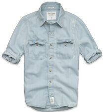 2013 New Arrival Abercrombie & Fitch Mens - Silver Lake Denim Shirt Vintage