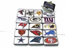 ALUMA SECURITY WALLET WITH NFL LOGOS, RFID BLOCKING, NFL MEMORABILIA - NFC DIV.