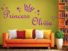 05 BIG Personalized girl PRINCESS your name wall Sticker  6 sizes many colours