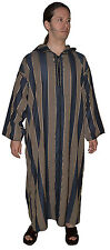 Moroccan Men Djellaba Hand Made Black&Gold Stripes Islamic clothing Thowb