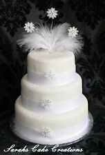Snowflake Winter Cake Topper  - Wedding Birthday Anniversary