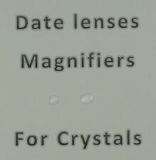 Bubble maginifier lens for date window watch on crystals glass glue on crystal