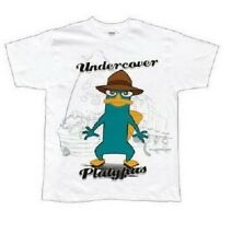 New Youth Phineas & Pherb Undercover Platypus Tshirt L Boys