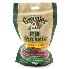 Greenies Dog ALLERGY FORMULA PILL POCKETS 25 Count DUCK & PEA Choose Size