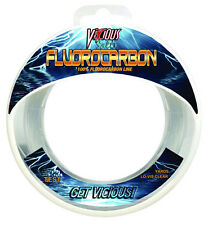 VICIOUS CLEAR SALT FLUOROCARBON FISHING LINE 110 YARDS various lb test