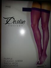 DESIRE Thigh High Stockings  ultra sexy HOSIERY Sheer 1 Size fits most