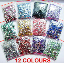 1100pcs Crystal Flat Back Acrylic Rhinestones Gems 3mm Nail Art/Craft UK Seller!