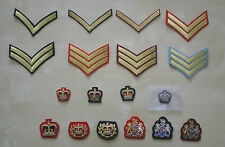 British Army Rank Badges - Various No1 Dress Badges, Various Colours, New