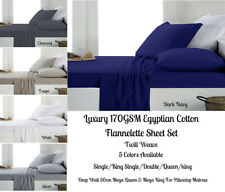 Egyptian Cotton Flannel / Flannelette Sheet Set Colors Choice For All Bed Sizes