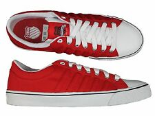 BRAND NEW MENS K. SWISS ADCOURT CVS-L RED-WHITE TRAINERS FOOTWEAR - ALL SIZES