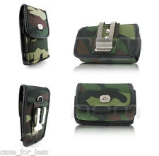 Camo Horizontal+Vertical Rugged Case Cover Purse Clip Holster for Sprint Phones