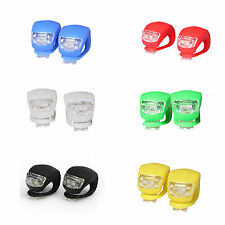 2Pcs Strobe LED rear bike tail light bicycle small bright safety