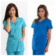 KOI by Kathy Peterson SCRUB Top BETSEY Turquoise Royal Blue All Sizes