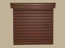 "2"" Faux Wood  Blinds *** 46"" WIDE ***  by  49"" to 60""  LENGTHS - Real Grain LOOK"