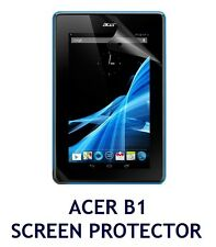 "ACER B1 ICONIA 7"" TABLET LCD SCREEN PROTECTOR GUARD FLIM PACK + CLOTH & APP CARD"