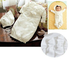 1NWT Baby Newoborn Christening Baptism Dailywear Gown Romper Playsuit Set