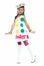 TWISTER LICENSE CHILD COSTUME Spinner Game Multicolor Theme Cute Halloween Party