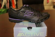 SKECHERS Active Bikers Fiesta Black Purple 22285 Brand New In Box