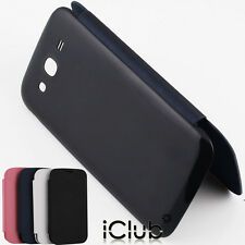 SLIM BATTERY BACK FLIP LEATHER CASE COVER FOR SAMSUNG GALAXY GRAND DUOS I9082