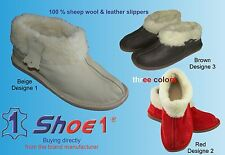LADIES WOMENS GIRLS Sheepskin genuine leather sheep wool BOOTS Slippers