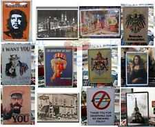 city Advertising history Signs metal art bars home Wall decoration iron painting