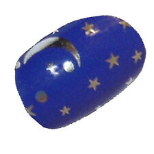 CHIX Nail Wraps Silver Night Sky Blue Moon Stars Mirror Fingers Toes Foils SALON