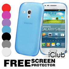 ULTRA THIN SLIM 0.3MM CASE COVER FOR SAMSUNG GALAXY S3 SIII MINI I8190 FREE FILM