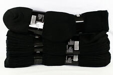 9-11, 10-13 Heavy Weight Athletic Crew Cotton Black Socks Mens Womens 4 12 Pairs