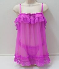 VICTORIA'S SECRET Sheer and Lace Baby Doll Panties Set NEW NWT