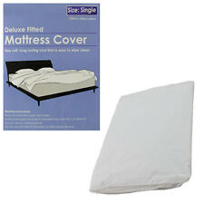 Deluxe Fitted Vinyl Waterproof Mattress Cover Protector Sheet Single Double King