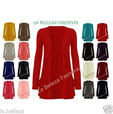 Women Ladies Girls Plus Size Long Sleeve Boyfriend Cardigans Top UK Size 16-26