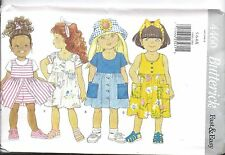 UNCUT Vintage Butterick SEWING Pattern Girls Pullover Dress Shorts 4460 OOP SEW