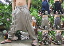 Harem Drop Crotch Unisex Baggy Hippie Hip Hop Indie Chino Boho Pants Trousers
