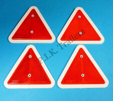 **FREE P&P** Triangle Reflectors for Driveway Posts, Garden Walls, Trailers etc