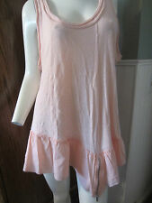 BLUSH PINK RUFFLE AND ZIPPER TANK TOP FROM HOT TOPIC DIFFERENT SIZES TO CHOOSE