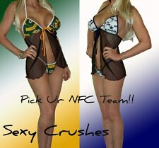 NFL Lingerie SEXY Babydoll Set - Pick Ur NFC Team - Top and G-String Panty!!