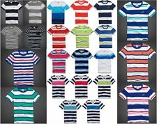 HOLLISTER BY ABERCROMBIE MENS T-SHIRT STRIPED SEAGULL TOP TEE SHIRT V-NECK CREW