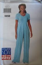 4850 Vintage Butterick SEWNG Pattern Misses EASY Jumpsuit UNCUT NEW See & Sew