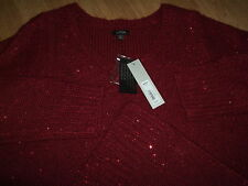 NWT  0X & 3X  Apt 9 Kohls Dept Store Red Sequin Sweater PERFECT NWT $54