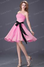 Prom Bridal Bridesmaid Cocktail Formal Party Evening Chiffon Short Mini Dresses