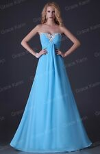 New Sexy Sweetheart Jewel Chiffon Bridesmaid Party Gown Prom Ball Evening Dress